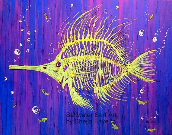 Bonefish, 16x20 Giclee canvas print by Sheila Faye