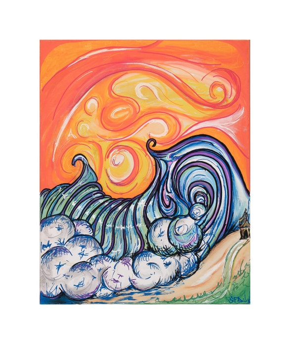 16x20 matted Orange Wave giclee print