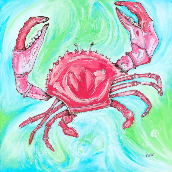 Crab Walk,  Fine Surf Art by Sheila Faye