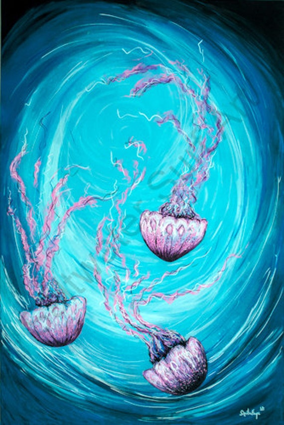 Tranquil Jellies, 11x14 giclee print on fine art paper