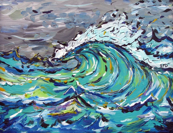 Green Wave, 11x14 Print on Fine art paper