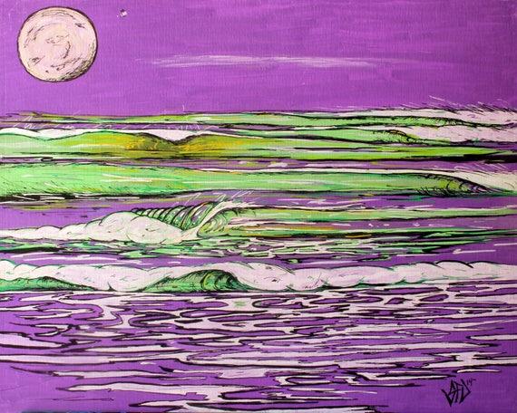 Euphoric Sunset, 16x20 Giclee Canvas Print