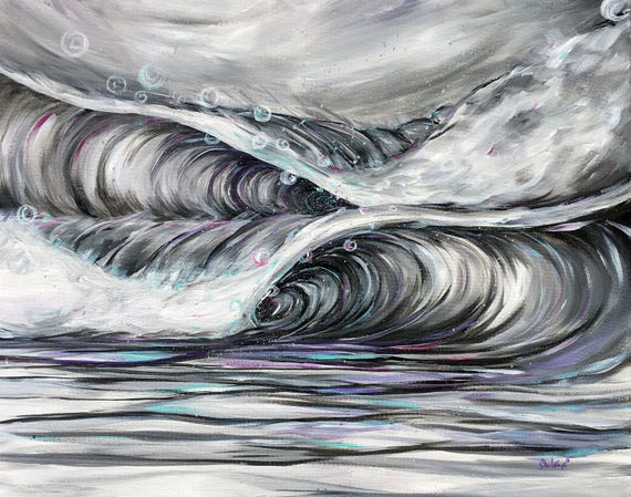 Frothy Waves 16x20 Giclee Canvas Print