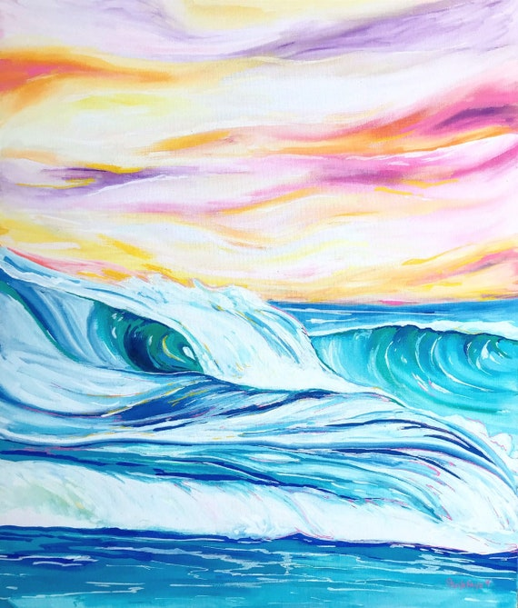 Moving Seas. 16x20 Original framed painting