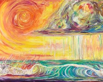 Warm Summer Rain, Fine Surf Art by Sheila Faye