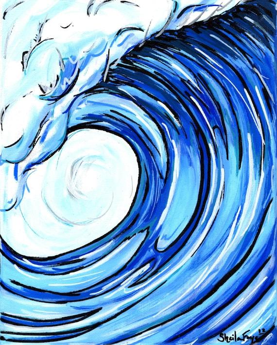 Just a Little Wave, 11x14 matted fine art print