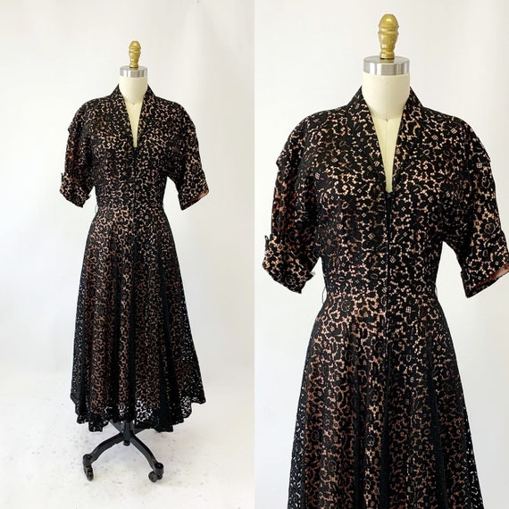 1950s Lace Cocktail Dress