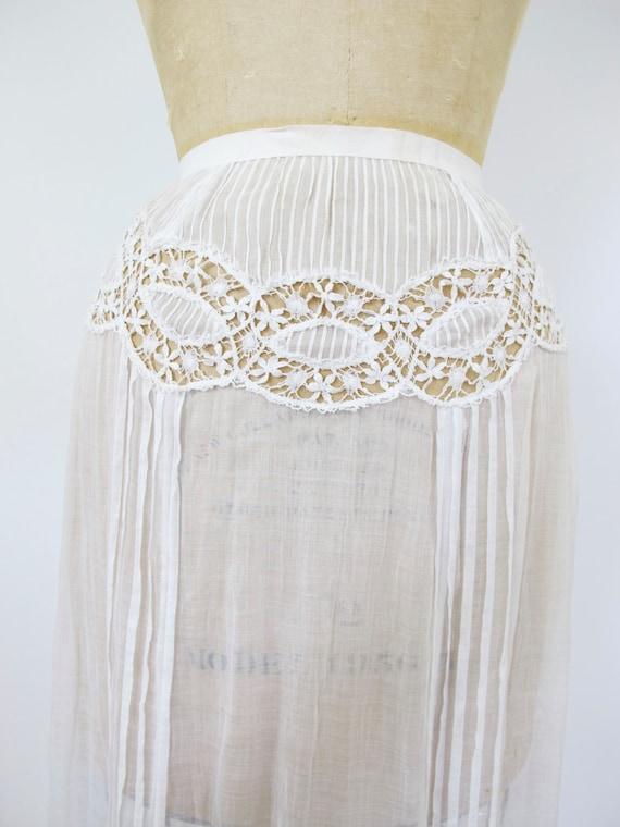 1900s Starry Skies Skirt | Antique White Cotton Sk