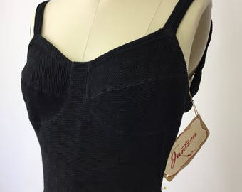 1950s Janzen Black Bathing Suit with Tags!