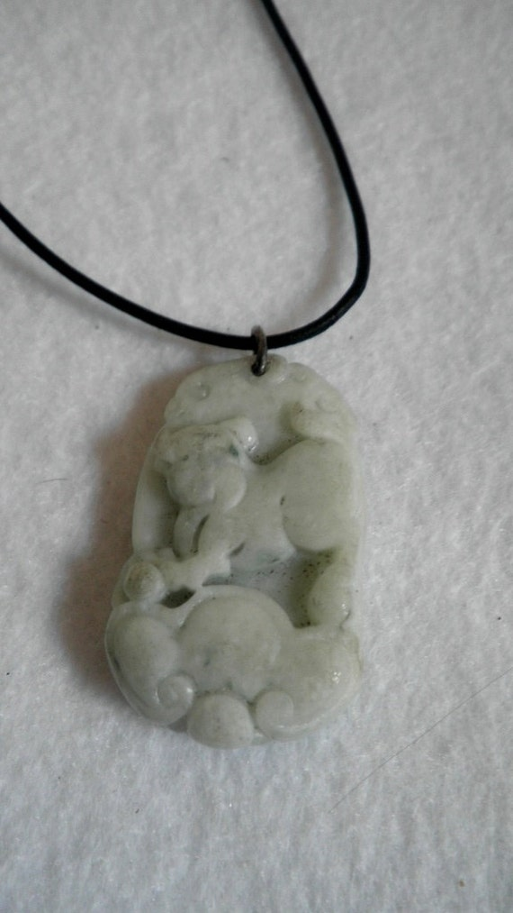 Feng Shui Tiger Zodiac Jade Necklace