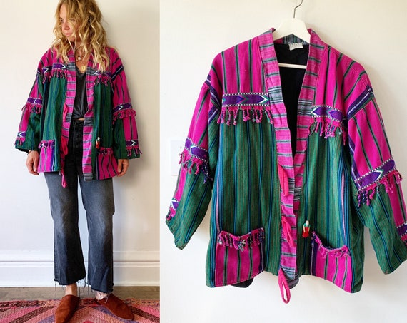 Vintage Guatemalan Embroidered Jacket , Ethnic Jacket