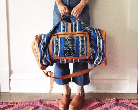 Ethnic Embroidered Weekender, XL Guatemalan Huipil Bag