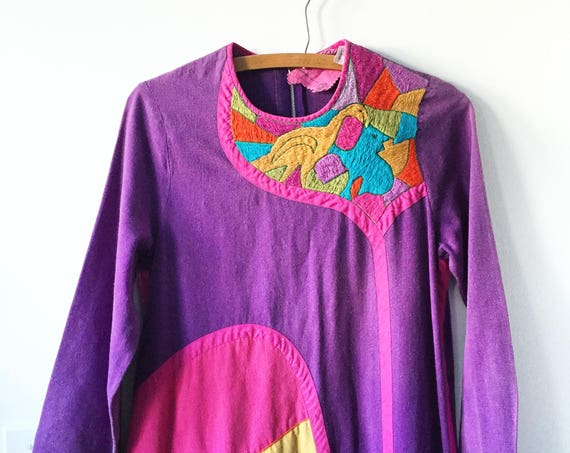 Vintage 60s JOSEFA  Mexican Embroidered Kaftan, JOSEFA Mexican Caftan