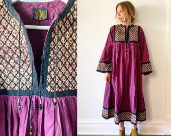 0ece2ba1d Vintage 70s India Cotton Dress