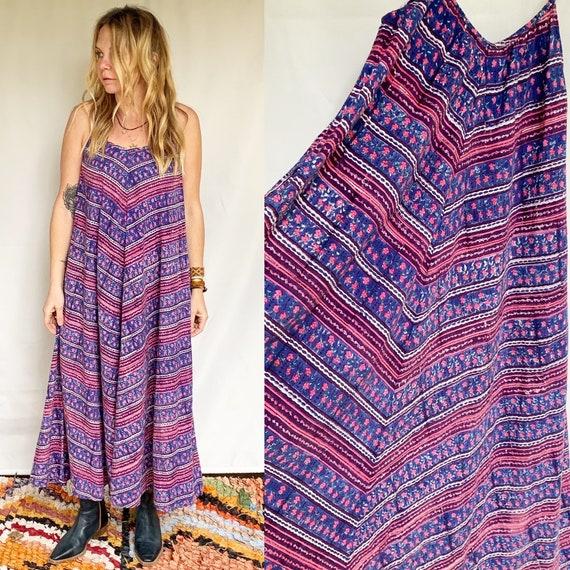 Indian Block Print Maxi Dress , Block Print Spaghetti Starp Dress , Strappy Indian Dress