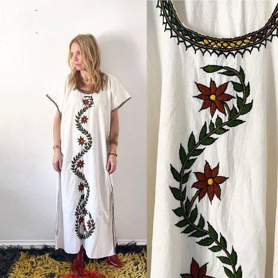 Vintage Embroidered Ethnic Caftan, African Kaftan