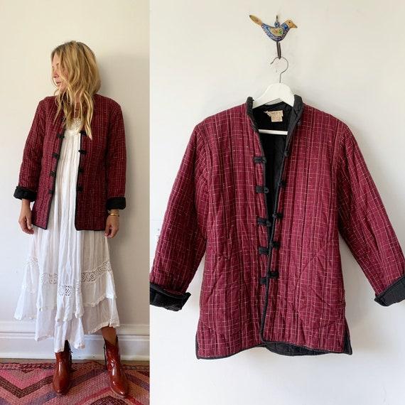 Vintage India Quilted Lurex Jacket , Nirvana India Jacket
