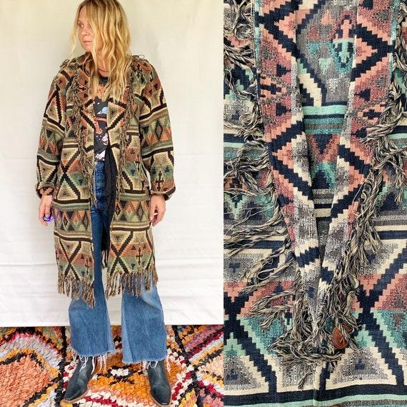 Vintage Southwestern Blanket Tapestry Jacket , Fri