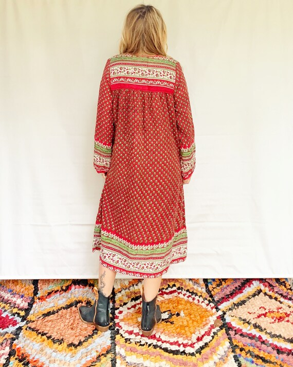Vintage India Cotton Gauze  Dress , Indian Cotton… - image 2