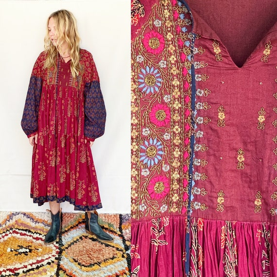 RESERVED, Do Not But Vintage Indian Cotton Dress ,