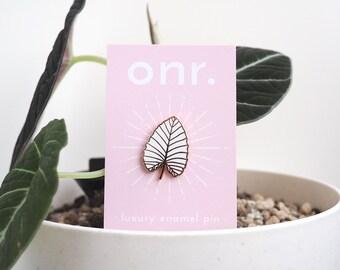 Tropical Leaf Enamel Pin // enamel pin - lapel pin - flair - enamel jewellery - pin badge