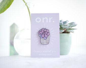 Succulent Enamel Pin // cactus pin - enamel pin - lapel pin - flair - enamel jewellery - pin badge