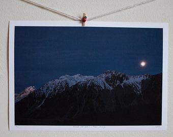 Aoraki (Mt. Cook) - Moon Rising