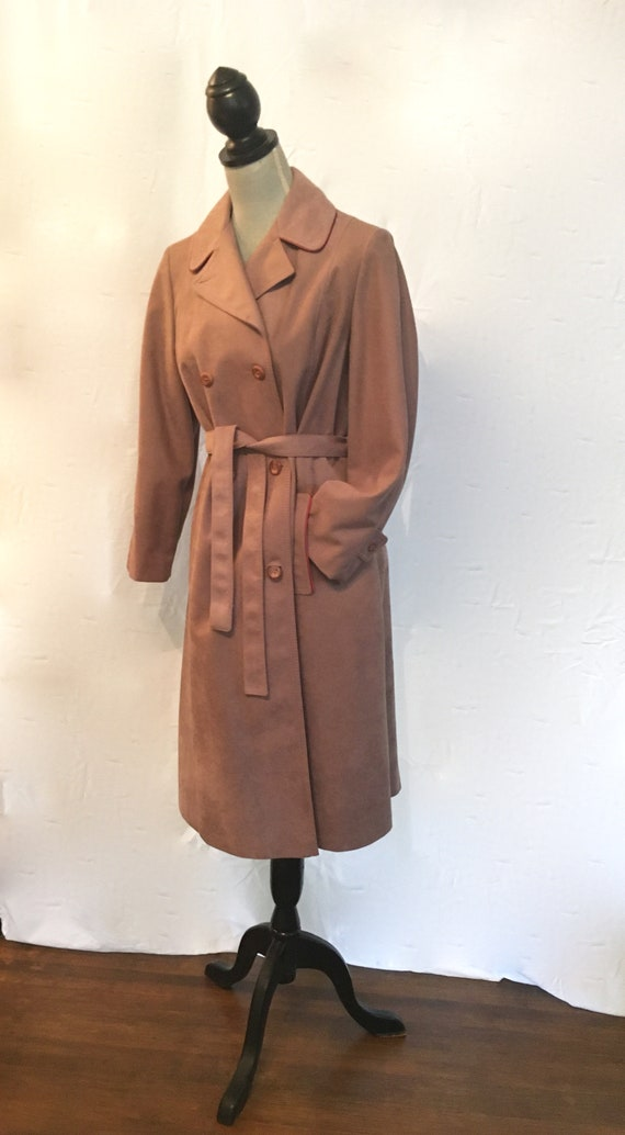 1960's Women's Wool Belted Double Breasted Trench