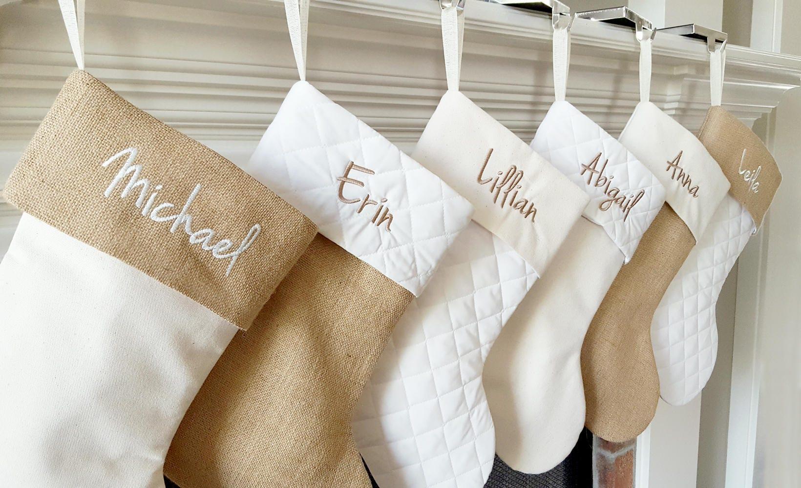 Christmas Stocking. Personalized Christmas Stocking. 8 Styles | Etsy