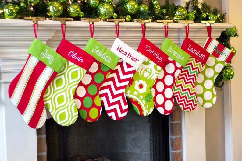 Personalized Christmas Stocking. Monogrammed Christmas image 0