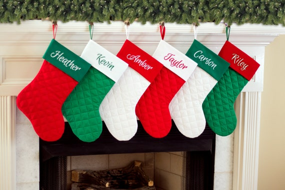 image 0 - Red And Green Christmas Stockings