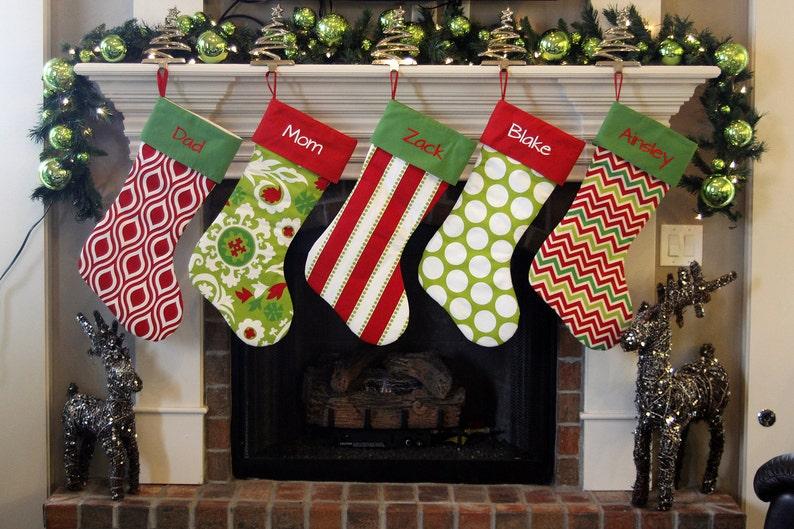 Personalized Christmas Stockings. Extra Large XL Giant Huge image 0