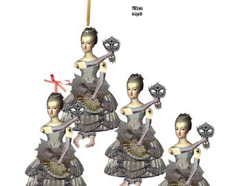 Tiny Marie Antoinette Puppets