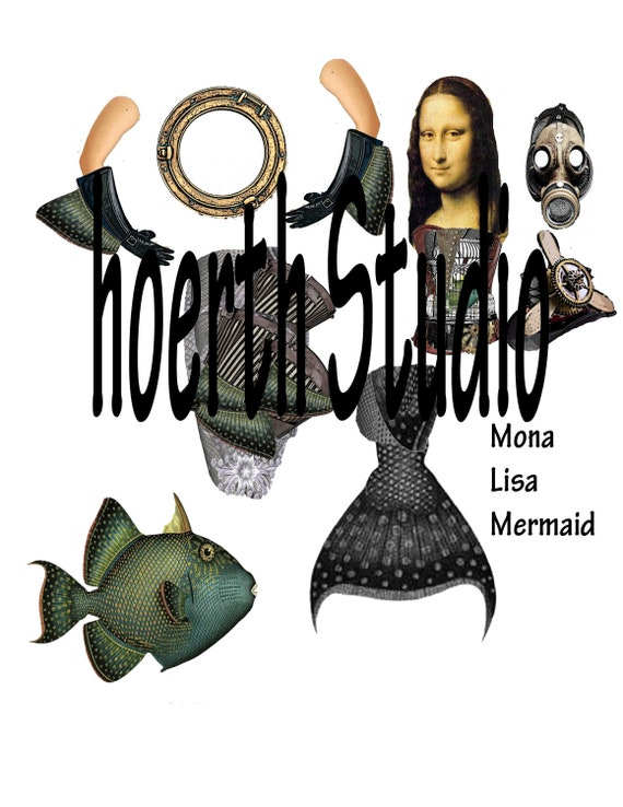 Druckbare Meerjungfrau Mona Lisa beweglich Papier Puppe | Etsy