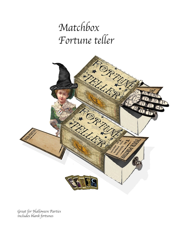 graphic about Printable Fortunes known as Printable Fortune Teller matchbook template and clip artwork in direction of deliver Halloween decor bash decor sbook solutions, or simply just entertaining fortunes
