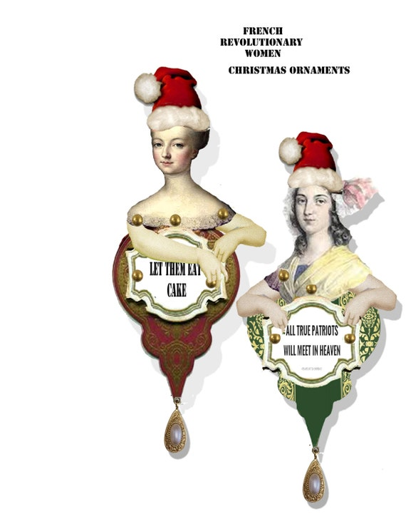 image 0 - Printable Christmas Tree Ornaments Historical French Etsy