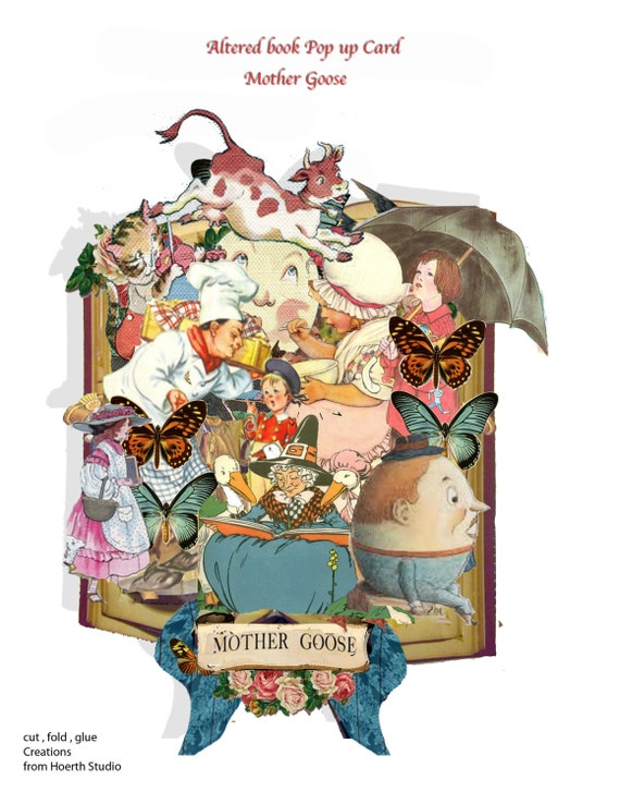 f8135c43cf80cf printable fairy tales mother goose Pop-up book page kit