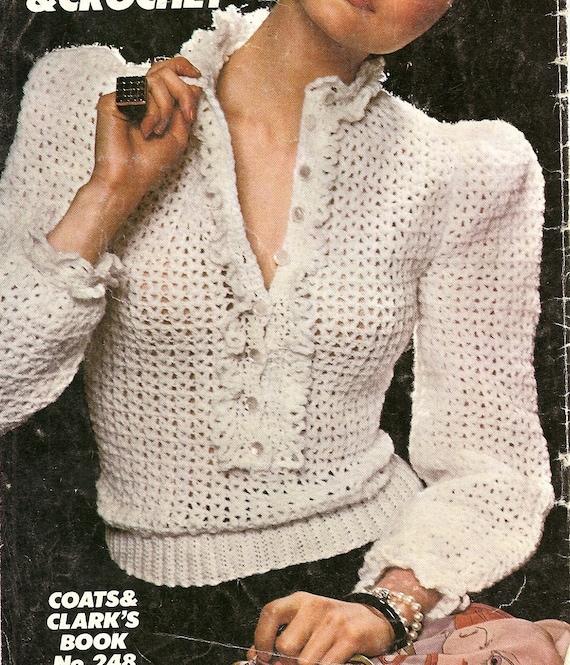 Blusa crochet encaje suéter hecho por encargo | Etsy