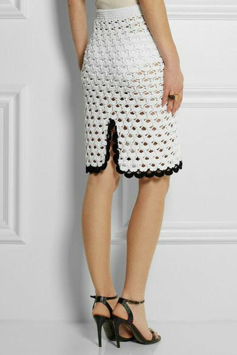 Crocheted Lace Straight Skirt - MADE TO ORDER