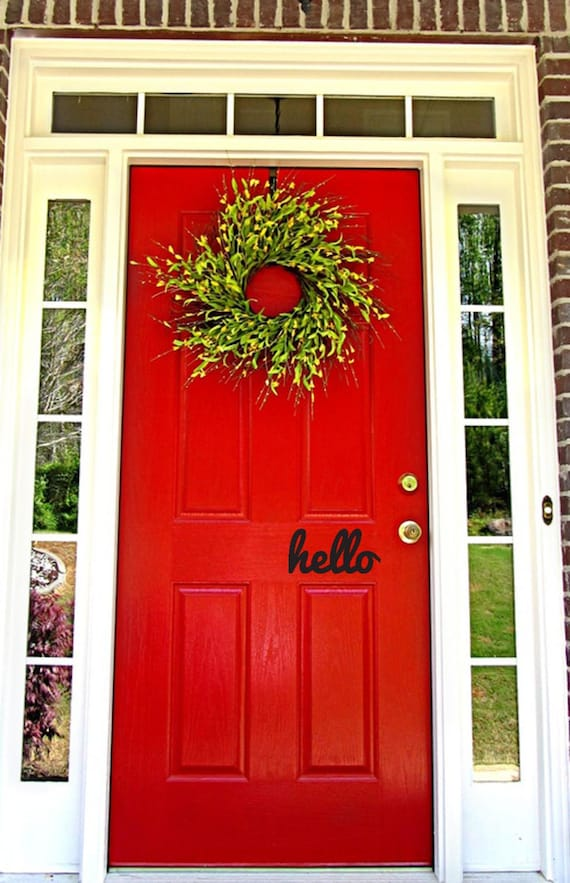 Hello Door And Wall Decal Door Decor Foyer Entry Country Etsy