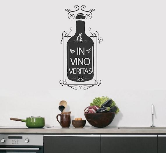 In Vino Veritas Wine Funny Car Truck Window Vinyl Decal Sticker Choose COLOR
