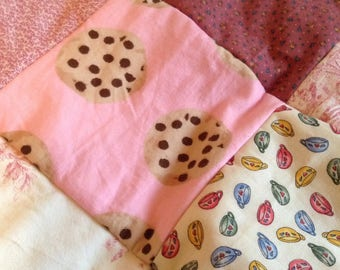 Cookie, the guilt-free rag quilt chock full of charm