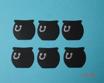 6 Cauldron Die Cuts for Scrapbooking and Paper Crafts Card Toppers Embellishment