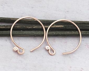 pg1060 6 of  Karen hill tribe Silver Rose Gold Vermeil Style Plain Disc Beads 8x2 mm