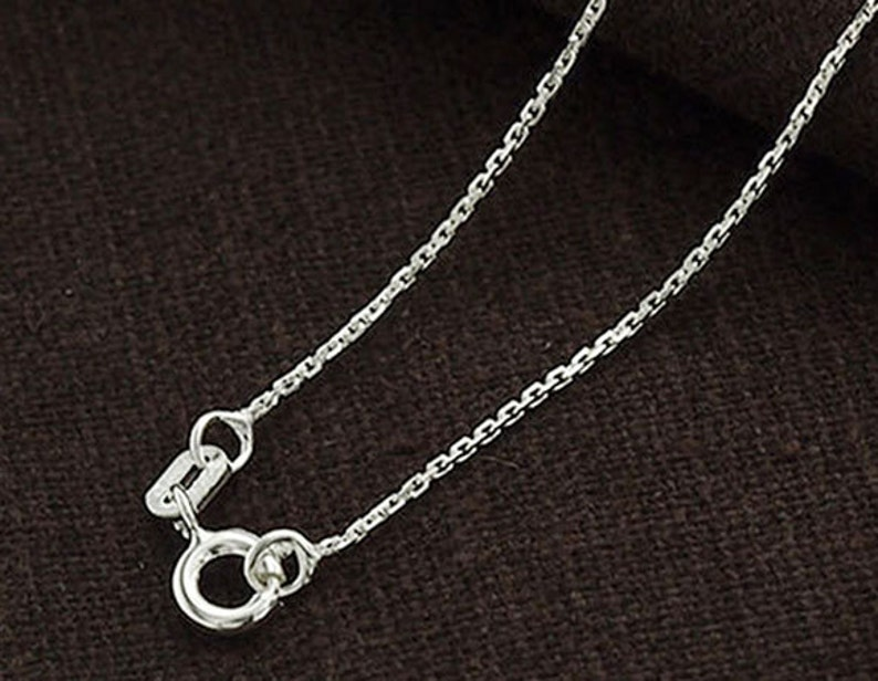 2cd1d78872d54 18 inches of 925 Sterling Silver Fine Cable Chain Necklace 1mm. Delicate  Chain :th2343-18