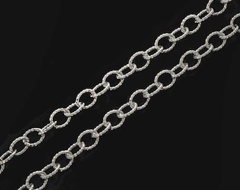 24 inches of 925 Sterling Silver Twisted Oval Link Chain 3.2x3.8 mm.  :th2672