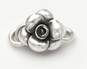1 of Karen Hill Tribe Silver Flower Clasp 16mm. :ka3670