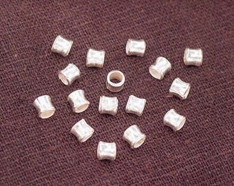 30 of Karen Hill Tribe Silver Hourglass Beads 3.5x4 mm.  :ka4276