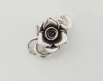 1 of Karen Hill Tribe Silver Rose Clasp 16mm. :ka3078