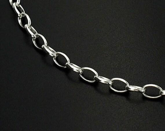 la chaîne chaîne la 18 pouces de 925 argent Sterling ovale 3 x 5 mm.: th0936 2709cd